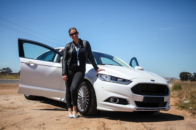 Tammy B at the Ford Fusion launch