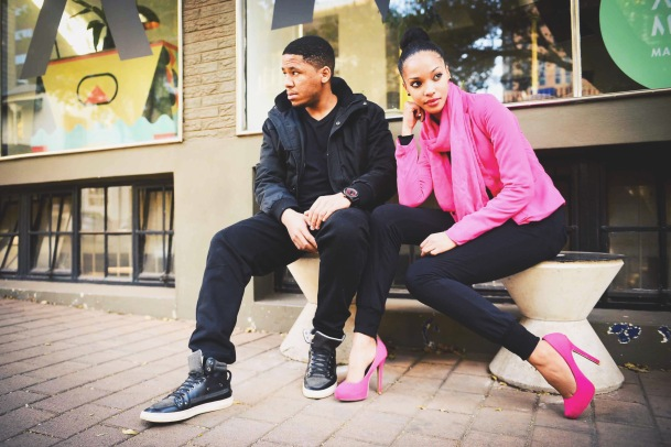 Urban Enzo and model Liesl Laurie