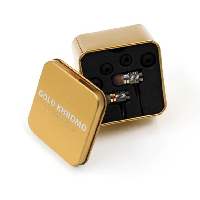 Gold Khromo earphones by Urban Enzo