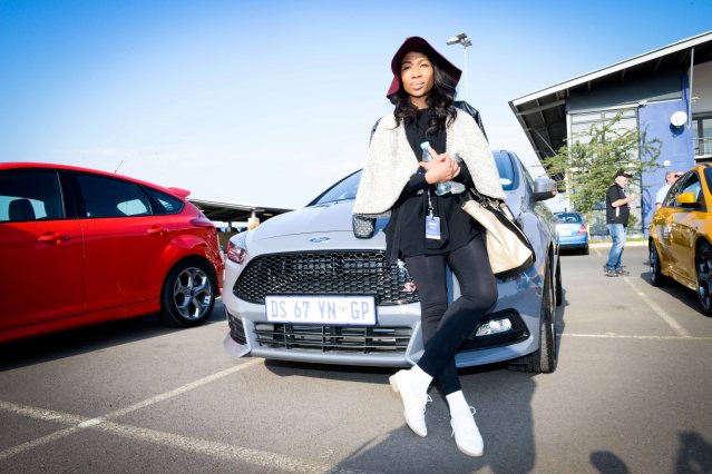 Dineo Ranaka at the #NewFocusST launch.